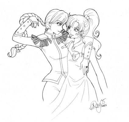 Coloriage Princesse Coloriage Princesse Asiatiques Manga